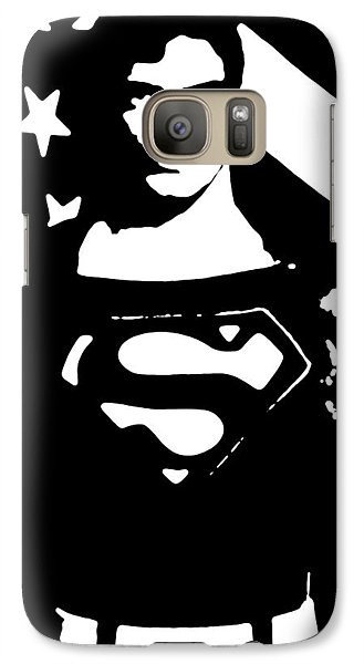 Galaxy Case featuring the digital art Waiting For Superman by Saad Hasnain