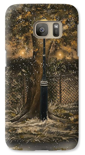 Galaxy Case featuring the painting Waiting For The Snow by Veronica Minozzi
