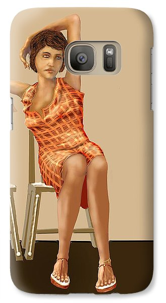 Galaxy Case featuring the digital art Waiting by Kerry Beverly