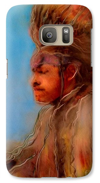 Galaxy Case featuring the painting Wakantanka Maka Kin Kaye by FeatherStone Studio Julie A Miller
