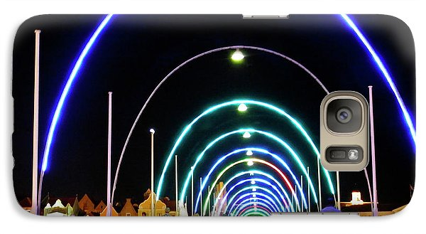 Galaxy Case featuring the photograph Walk Along The Floating Bridge, Willemstad, Curacao by Kurt Van Wagner