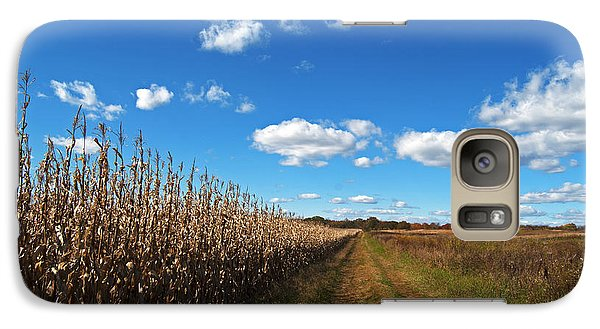 Galaxy Case featuring the photograph Walk By The Corn Field by Elsa Marie Santoro