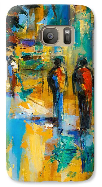 Galaxy Case featuring the painting Walk In The City by Elise Palmigiani