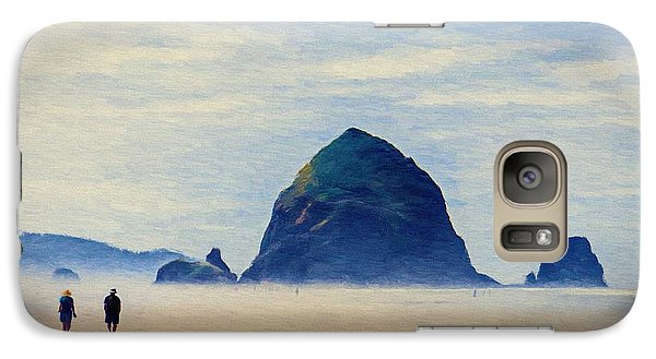 Galaxy Case featuring the painting Walk On The Beach by Jeff Kolker