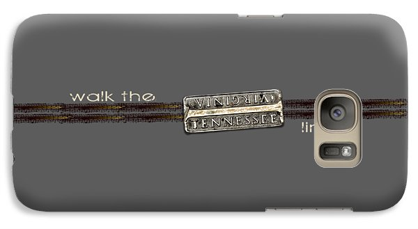 Galaxy Case featuring the photograph Walk The Line Light Lettering by Heather Applegate