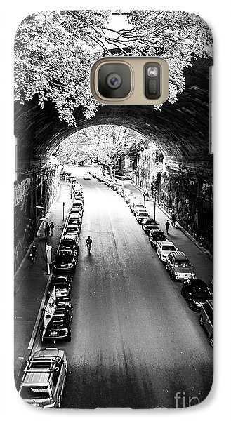 Galaxy Case featuring the photograph Walk The Tunnel by Perry Webster
