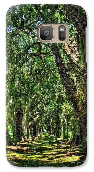 Galaxy Case featuring the photograph Walk With Me Avenue Of Oaks St Simons Island Art by Reid Callaway