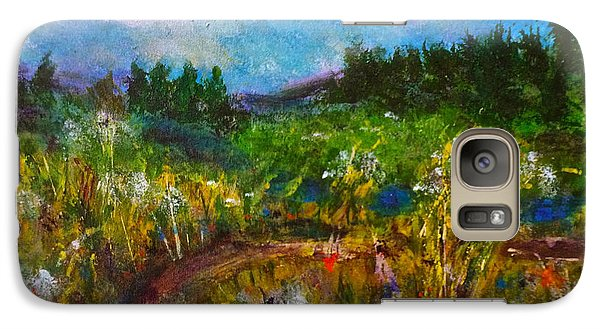 Galaxy S7 Case featuring the painting Walk With Me by Claire Bull