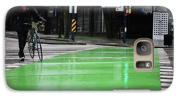 Galaxy Case featuring the photograph Walk With Wheels  by Empty Wall