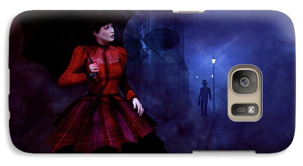 Galaxy Case featuring the digital art Walking After Midnight by Methune Hively