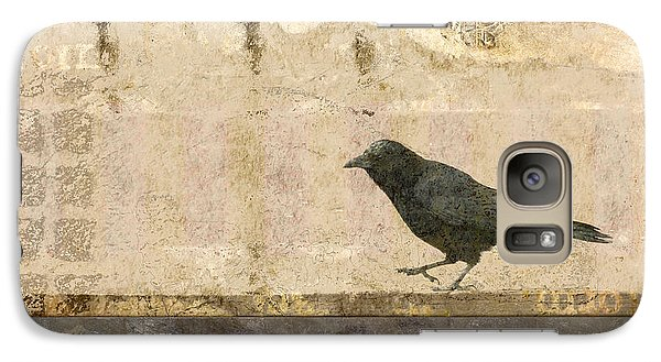 Galaxy Case featuring the photograph Walking Crow by Carol Leigh