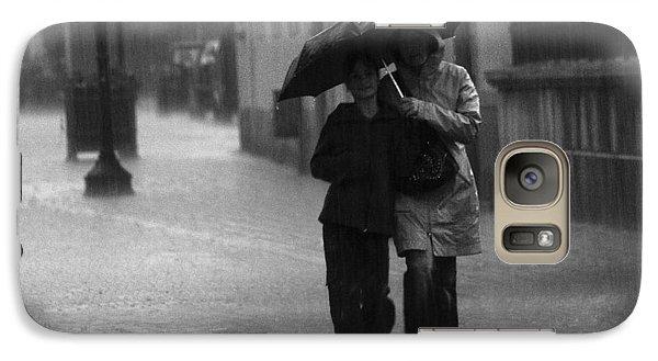 Galaxy Case featuring the photograph Walking In The Rain by Gabor Pozsgai