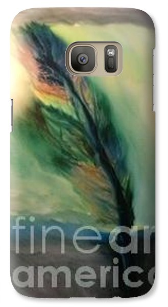 Galaxy Case featuring the painting Walking In Your Light  by FeatherStone Studio Julie A Miller