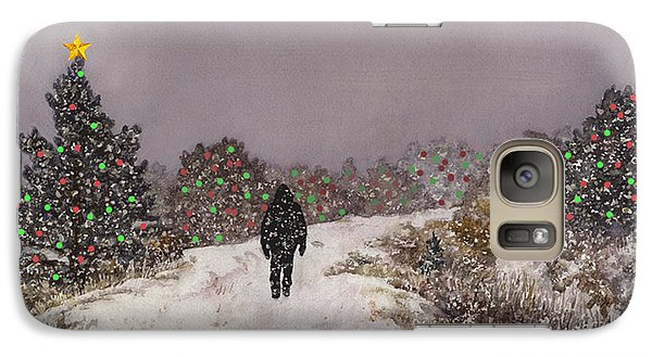 Galaxy Case featuring the painting Walking Into The Light by Anne Gifford