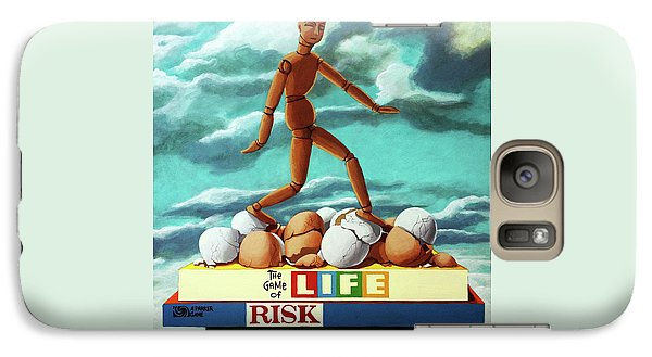 Galaxy Case featuring the painting Walking On Eggshells Imaginative Realistic Painting by Linda Apple