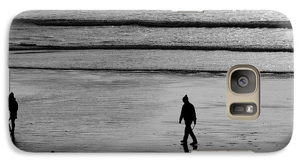 Galaxy Case featuring the photograph Walking The Dog At Marazion by Brian Roscorla