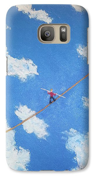 Galaxy Case featuring the painting Walking The Line by Thomas Blood