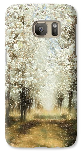 Galaxy Case featuring the painting Walking Through A Dream Ap by Dan Carmichael