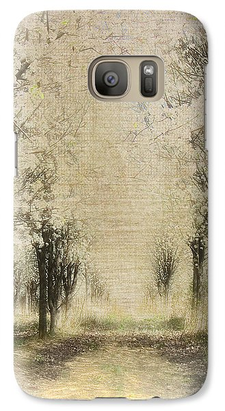 Galaxy Case featuring the painting Walking Through A Dream IIi by Dan Carmichael