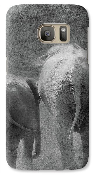 Galaxy Case featuring the photograph Walking Together by Rebecca Cozart