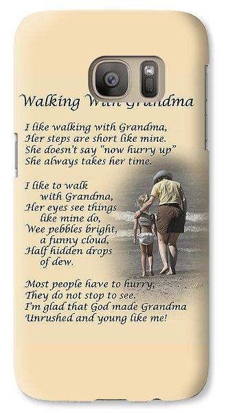 Walking With Grandma Galaxy S7 Case
