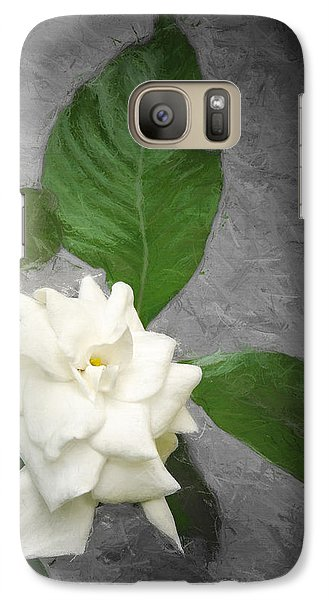 Galaxy Case featuring the photograph Wall Flower by Carolyn Marshall