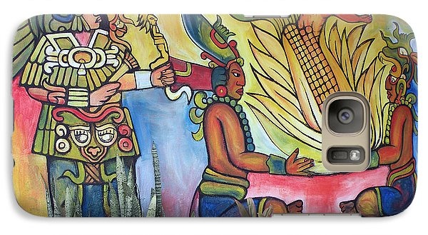 Galaxy Case featuring the photograph Wall Painting In A Mexican Village by Dianne Levy