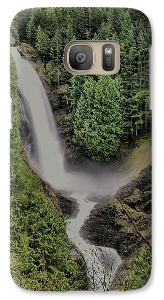 Galaxy Case featuring the photograph Wallace Falls by Jeff Swan