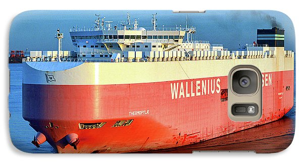 Galaxy S7 Case featuring the photograph Wallenius Wilhelmsen Thermopylae 9702443 On The Patapsco River by Bill Swartwout Fine Art Photography