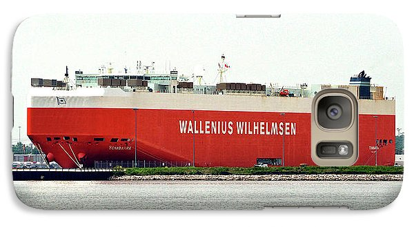Galaxy S7 Case featuring the photograph Wallenius Wilhelmsen Tombarra 9319753 At Curtis Bay by Bill Swartwout Fine Art Photography