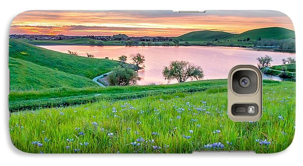 Galaxy Case featuring the photograph Wally Baskets Above Contra Loma  by Marc Crumpler