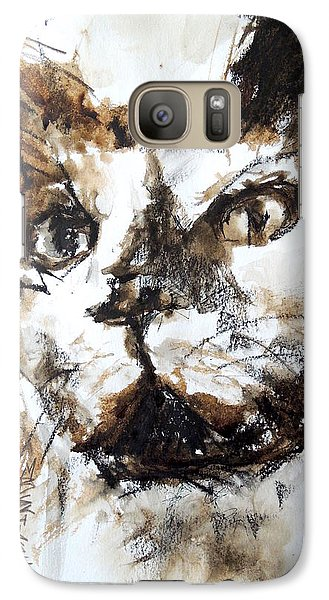 Galaxy Case featuring the mixed media Walnut And Charcoal by Mary Schiros