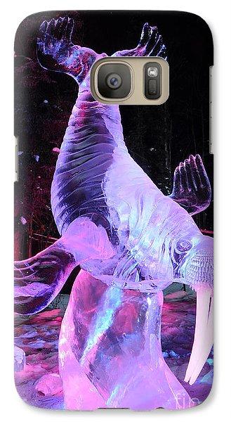 Galaxy Case featuring the photograph Walrus Ice Art Sculpture - Alaska by Gary Whitton