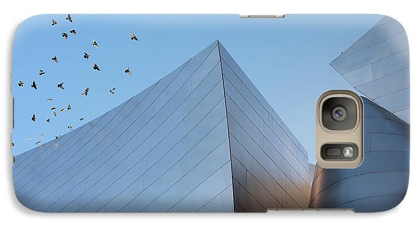 Galaxy Case featuring the photograph Walt Disney Concert Hall Los Angeles California Architecture Abstract by Ram Vasudev