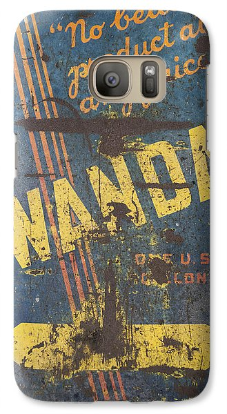 Galaxy Case featuring the photograph Wanda Motor Oil Vintage Sign by Christina Lihani