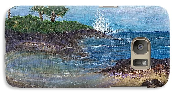 Galaxy Case featuring the painting Wanna Go by Margaret Bobb