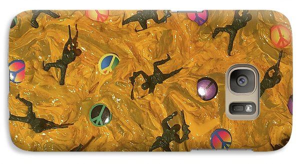 Galaxy Case featuring the painting War And Peace by Thomas Blood