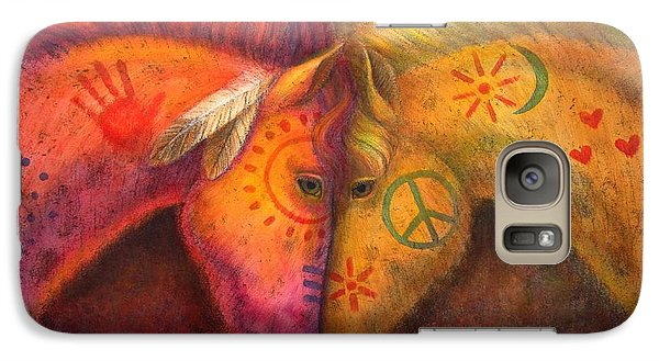 War Horse And Peace Horse Galaxy S7 Case