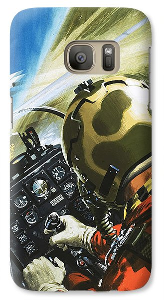 War In The Air Galaxy S7 Case by Wilf Hardy