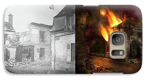 Galaxy Case featuring the photograph War - Wwi -  Not Fit For Man Or Beast 1910 - Side By Side by Mike Savad