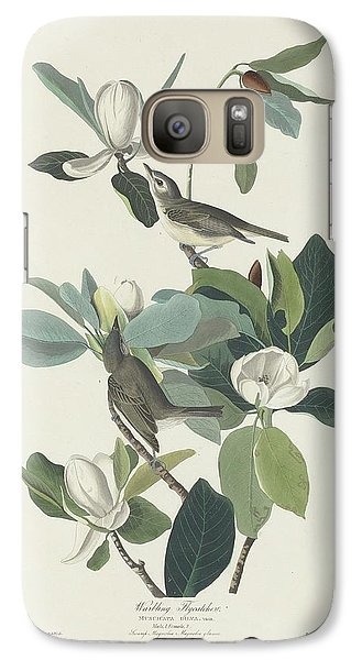 Flycatcher Galaxy S7 Case - Warbling Flycatcher by Dreyer Wildlife Print Collections