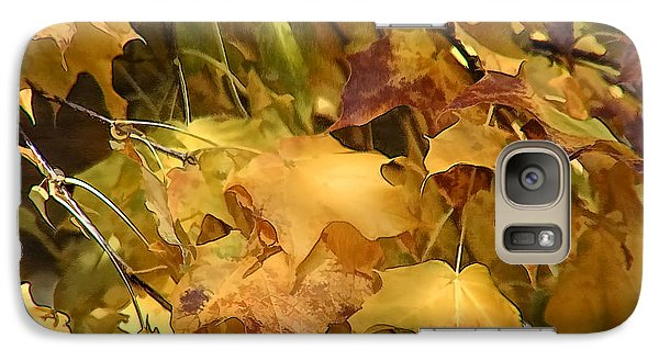 Galaxy Case featuring the photograph Warm Fall Leaves by Michael Flood