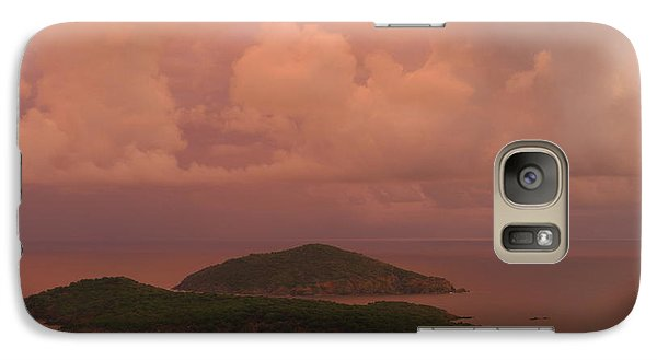 Galaxy Case featuring the photograph Warm Sunset Palette Of Inner And Outer Brass Islands From St. Thomas by Jetson Nguyen