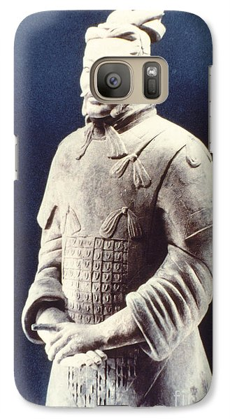 Galaxy Case featuring the photograph Warrior Of The Terracotta Army by Heiko Koehrer-Wagner
