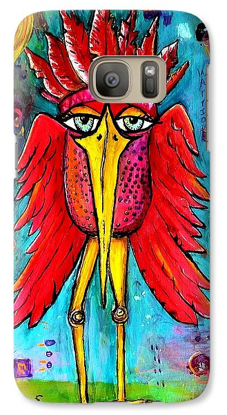 Galaxy Case featuring the painting Warrior Spirit by Vickie Scarlett-Fisher