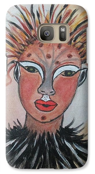 Galaxy Case featuring the painting Warrior Woman  #3 by Sharyn Winters