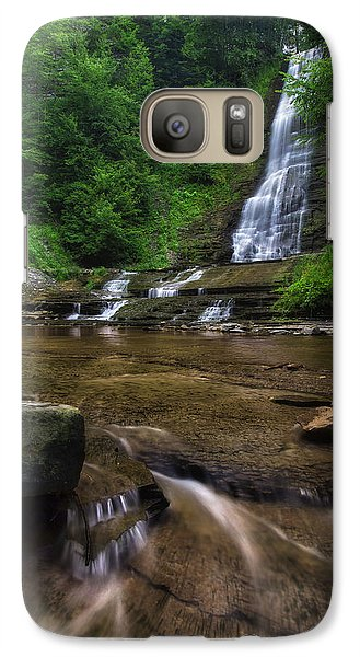 Galaxy Case featuring the photograph Warsaw Falls 2 by Mark Papke