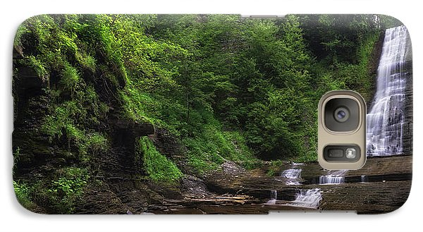 Galaxy Case featuring the photograph Warsaw Falls by Mark Papke
