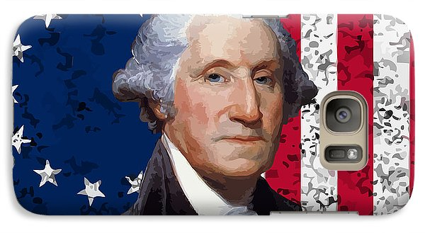 Washington And The American Flag Galaxy Case by War Is Hell Store