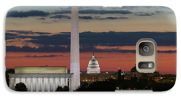 Lincoln Memorial Galaxy S7 Case - Washington Dc Landmarks At Sunrise I by Clarence Holmes